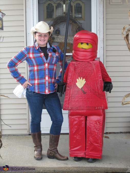 The Lego Ninja and his cowgirl sister., Lego Ninja Costume