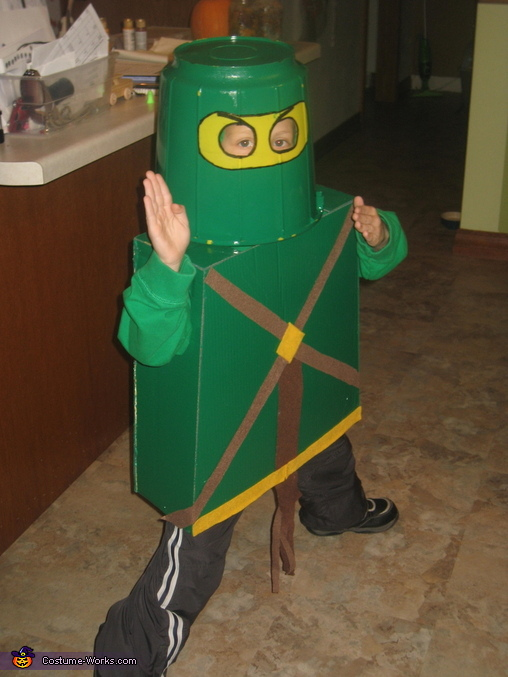 Green Ninja, ready to fight, Lego Ninjago Green Ninja Costume