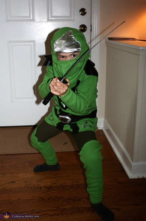 Lego Ninjago Green Ninja - Homemade costumes for boys