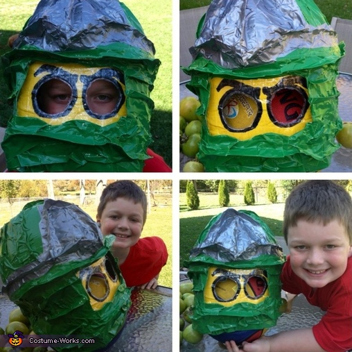 the head, Lego Ninjago Green Ninja Costume