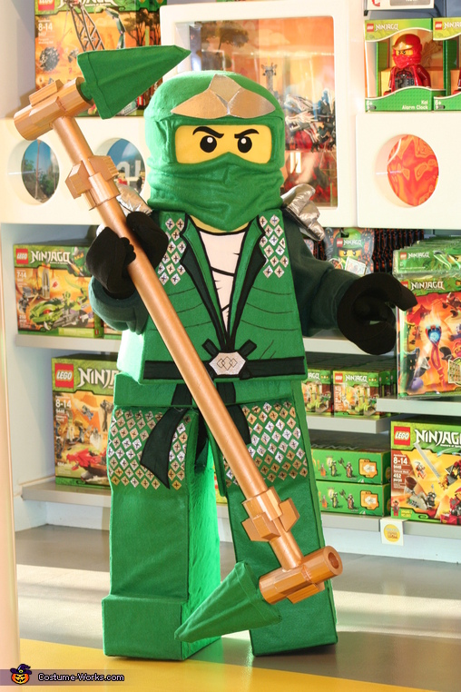 Lego Ninjago Green Ninja Costume & Homemade LEGO Lego Ninjago Green Ninja Costume
