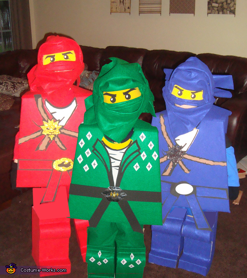 LEGO Ninjago: Jay, Kai & Lloyd - Homemade costumes for boys