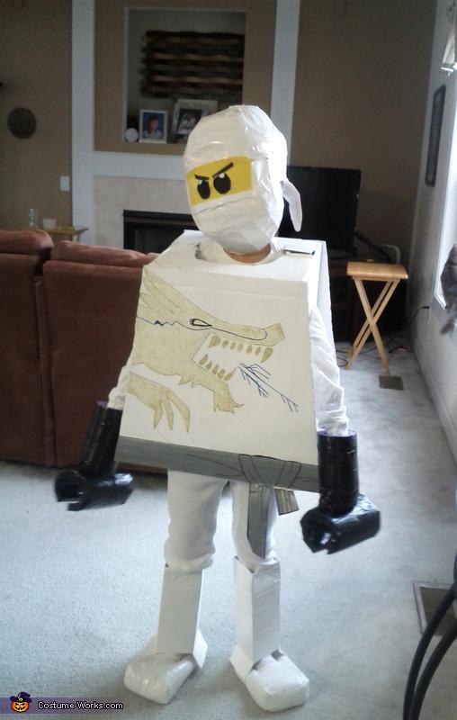 LEGO NinjaGO Zane White Character  Costume