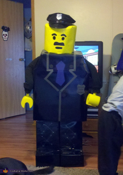Homemade lego costumes homemade lego police officer costume solutioingenieria Images