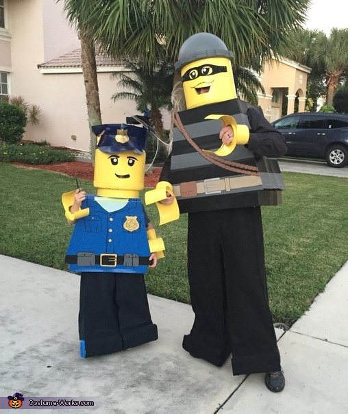 Lego Policeman and Criminal Mini Figure Costume