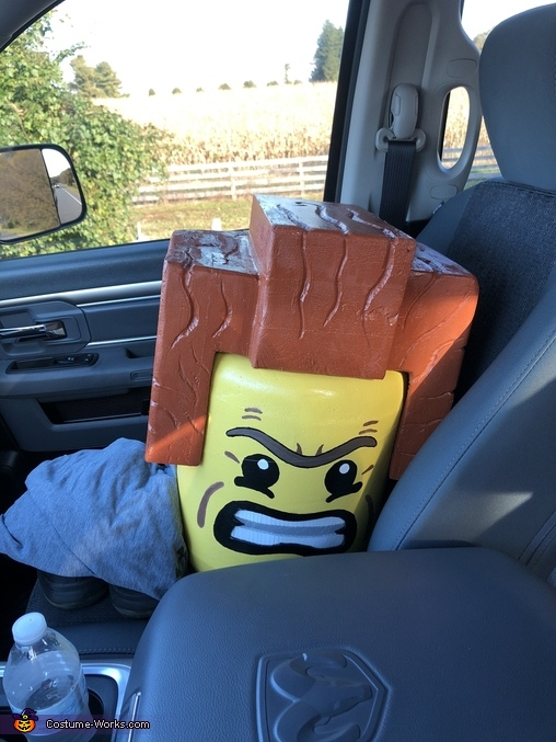 The head, Lego President Business Costume
