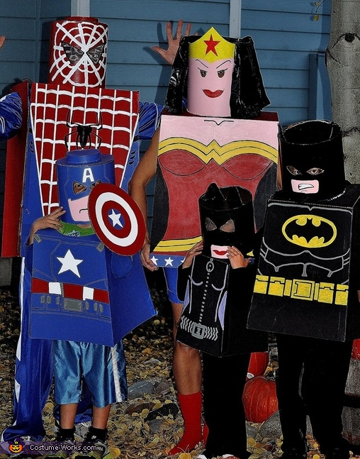 Lego Superheroes Family Costume