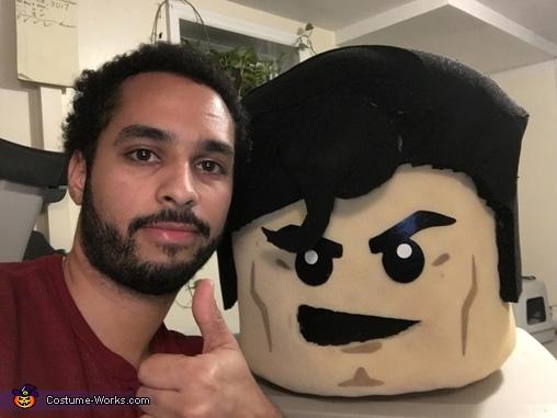 Headpiece complete!, LEGO Superman Costume