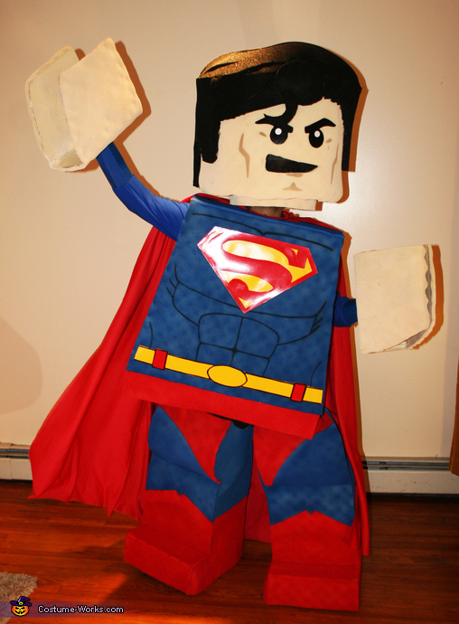 Striking a heroic pose!, LEGO Superman Costume