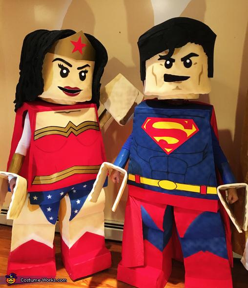 LEGO Superman & Wonder Woman Homemade Costume