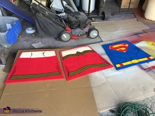 Completed torsos!, LEGO Superman & Wonder Woman Costume