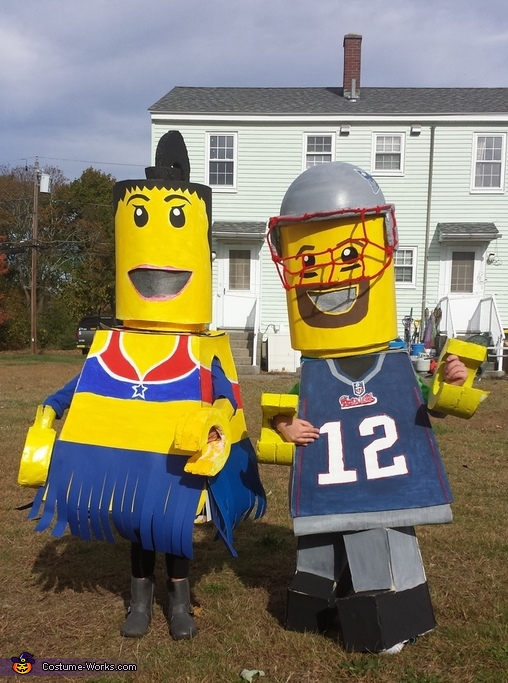 Lego Tom Brady and Patriots Cheerleader Costume