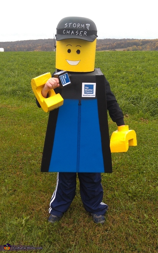Lego Meteorologist Jim Cantore Costume