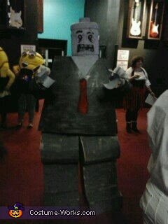 finished product....Lego Zombie, Lego Zombie Costume