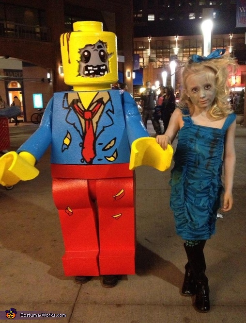 Lego zombie boy and little zombie sister., Lego Zombie Minifigure Costume