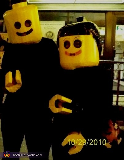 Lego Mates - Homemade costumes for couples