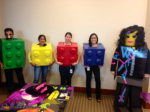Legos and Wyldstyle Group Costume