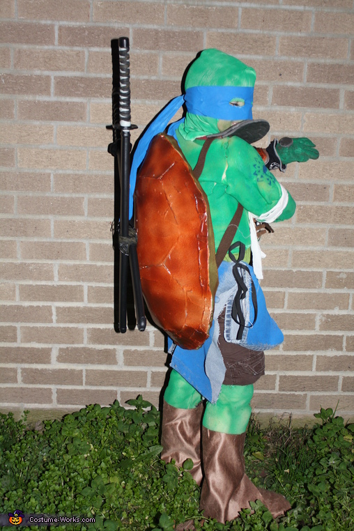 Leonardo Ninja Turtle Homemade Costume