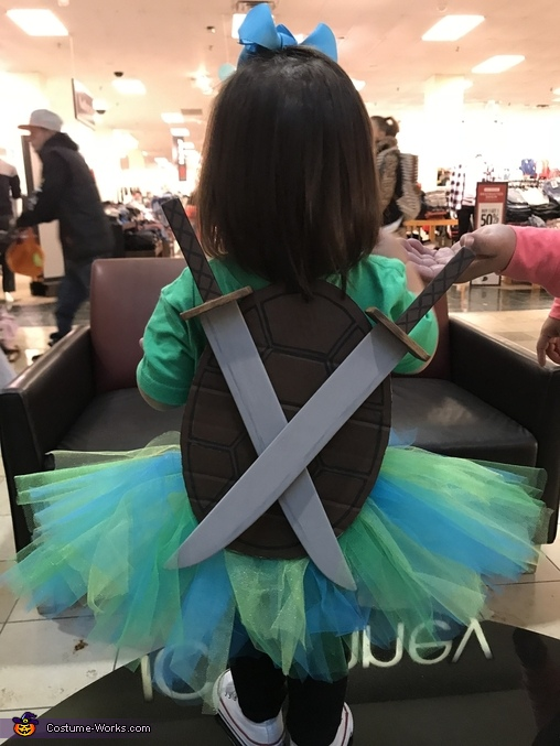 Back pose, Leonardo Ninja Turtle Costume