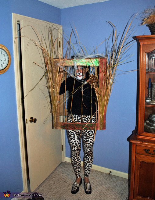 Leopard in a Jungle Cage Costume