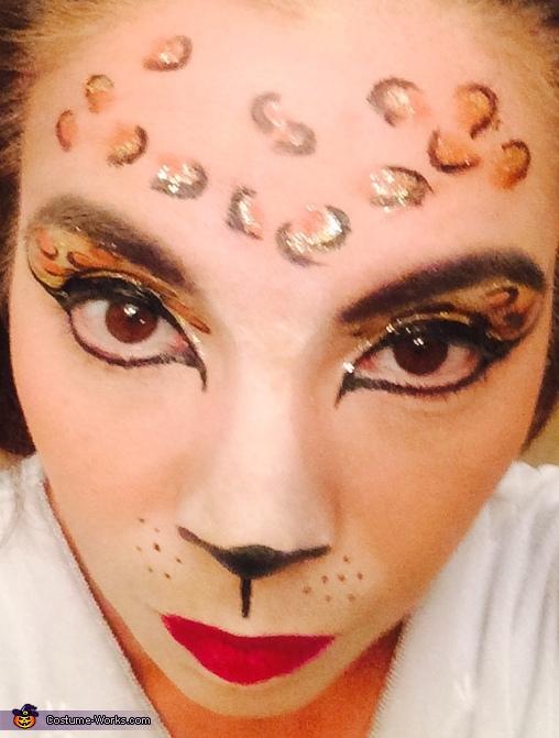 Leopard makeup, Leopard Costume
