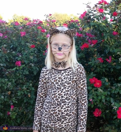 Leopard Girl Homemade Costume