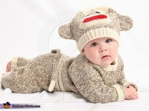 Hand Knitted Sock Monkey Costume