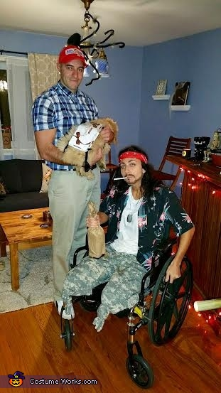 Lieutenant Dan, Forest Gump and his Box of Chocolates Costume