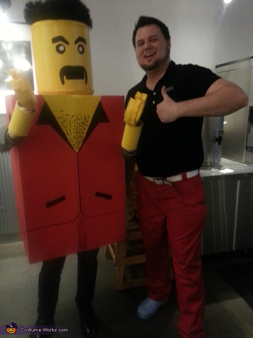 Life-sized Lego Man Costume