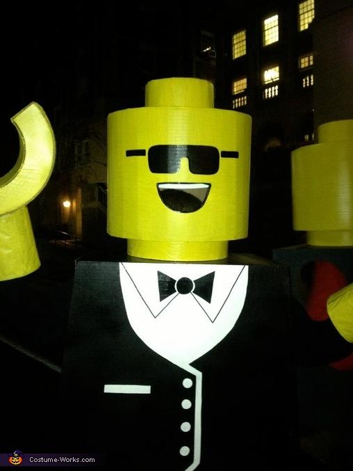 Tuxedo LEGO having a blast!,  Life Size LEGO Costume