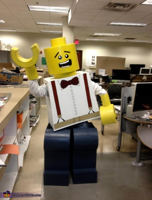 Suspender LEGO excited for the night!,  Life Size LEGO Costume