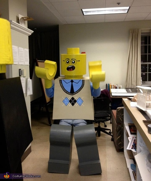 Argyle LEGO looking good!,  Life Size LEGO Costume
