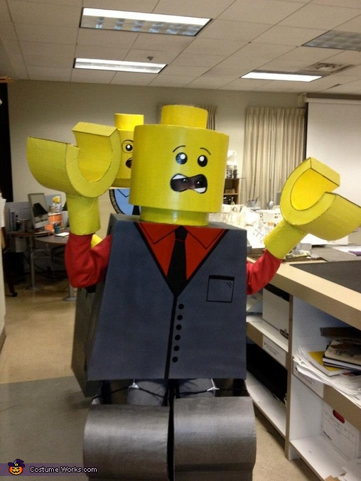 Suit LEGO pumped to roll out!,  Life Size LEGO Costume