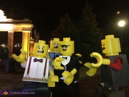 LEGO family :),  Life Size LEGO Costume