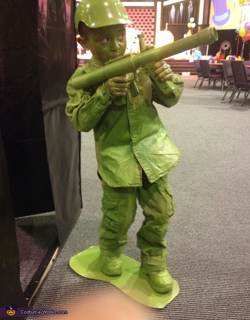 Life Size Plastic Army Man Costume