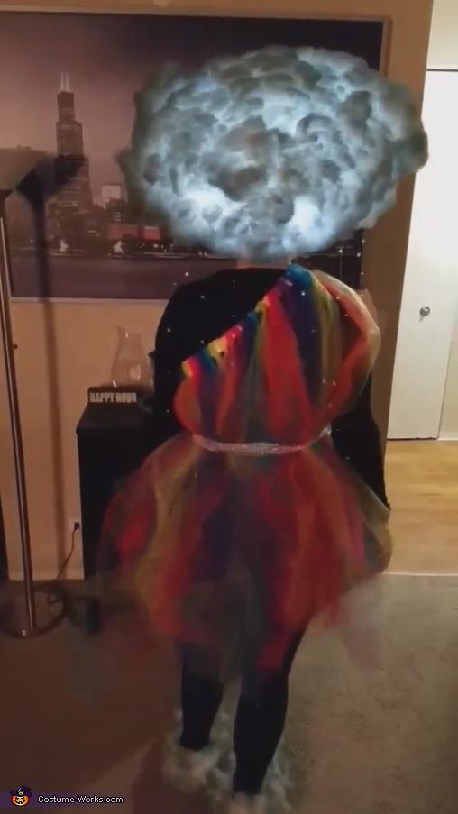 Back of Costume, Light-Up Thunderstorm Costume