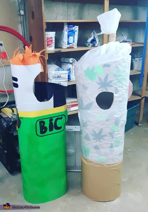 Light and Blunt Homemade Costume