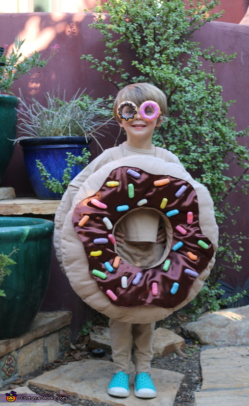 Light Up Chocolate Sprinkle Donut Homemade Costume