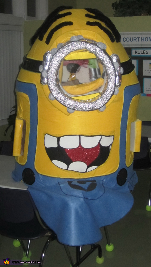 Front View, Light up Minion Costume