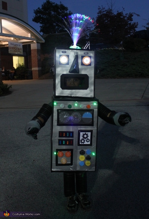 Light Up Robot Homemade Costume