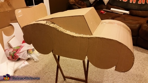 "LM Finished Cardboard Frame, The ""Amazing"" Lightning McQueen Costume"