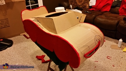 """LM Felted Sides and Lips, The """"Amazing"""" Lightning McQueen Costume"""