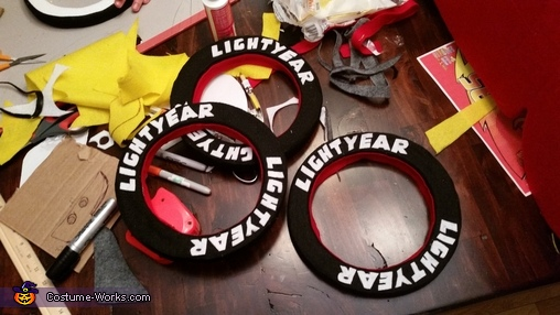 "LM Wheel Rings, The ""Amazing"" Lightning McQueen Costume"