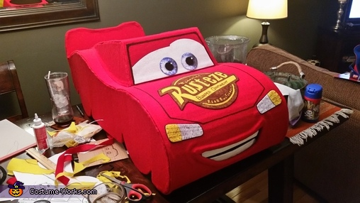 """LM Front/Top Stickers, The """"Amazing"""" Lightning McQueen Costume"""