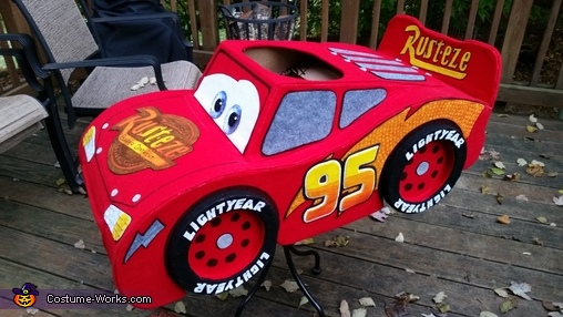 "LM Finished Front/Side View, The ""Amazing"" Lightning McQueen Costume"