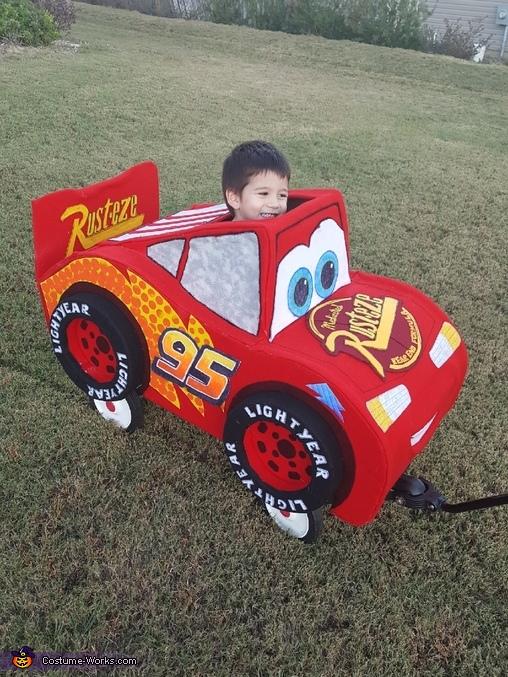 Lightning McQueen Homemade Costume