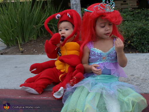 Ariel and Sebastian costumes, Mermaid Ariel & Sebastian Costume