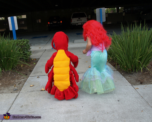 Lil Mermaid & Lil Sebastian - Homemade costumes for kids