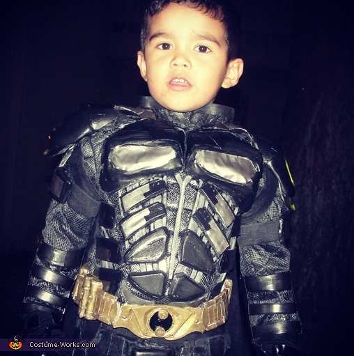 Emiliano age 4, Lil' Dark Knight Batman Costume