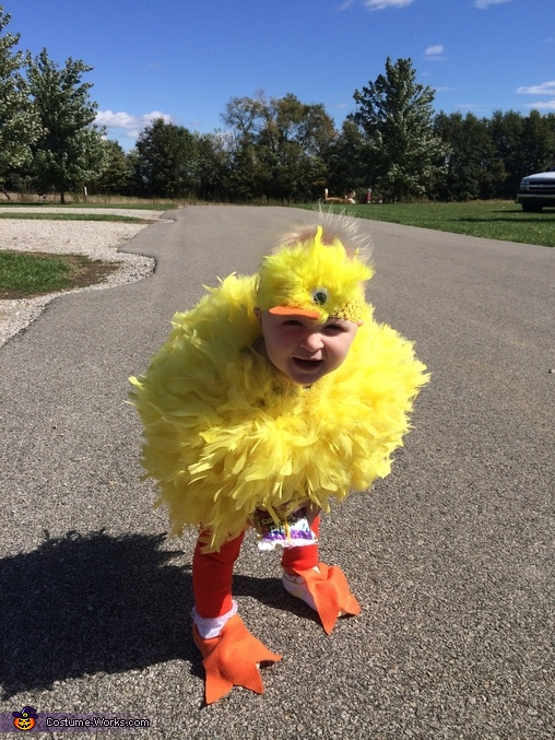 Quacking herself up!, Lil' Duck Baby Costume
